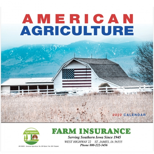 2022 American Agriculture Wall Calendar - Stapled