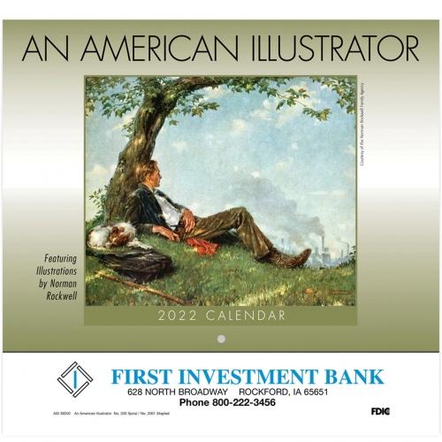 2022 An American Illustrator Wall Calendar - Stapled