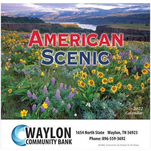 2022 American Scenic Wall Calendar - Stapled