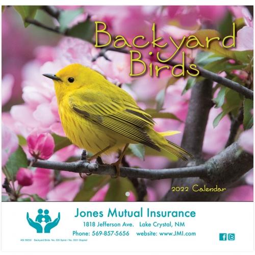 2022 Backyard Birds Wall Calendar - Stapled