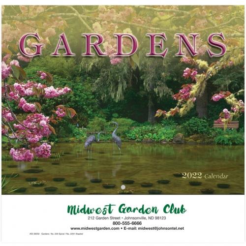 2022 Gardens Wall Calendar - Stapled