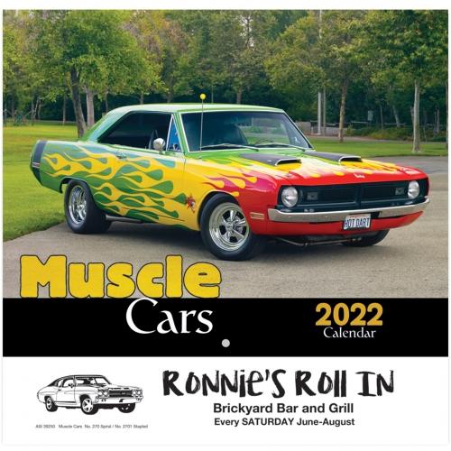 2022 Muscle Cars Wall Calendar - Stapled