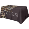Supreme Polyester, All Over Full Color Table Cover, Flat 4 sided, 6 foot