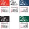 2022 Car Vinyl Adhesive Mini Stick Calendar