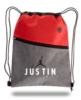 Two-Tone Drawstring Cinch Bag