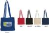 Large Canvas Messenger Bag with Bottom Gusset