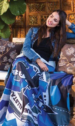 Heather Gray Sweatshirt Blanket