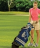 Velour Jacquard Caddy Golf Towel