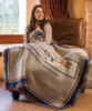 Custom Woven Large Tapestry Throw