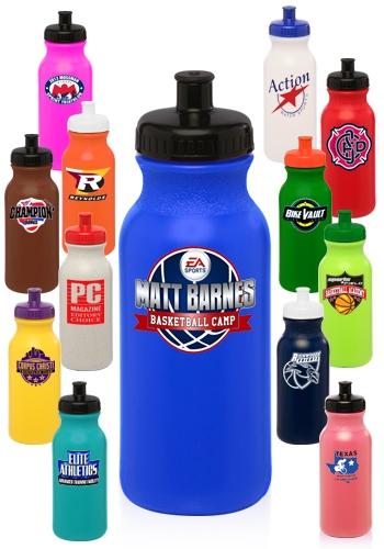 20 oz Custom Plastic Water Bottle