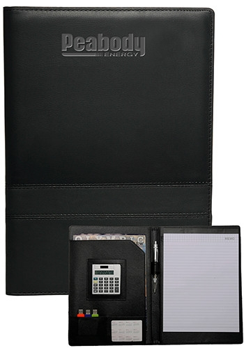 Double Stitched Padfolio with Calculator - 9.125