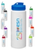 32 oz HDPE Plastic Water Bottle with Sipper Lid