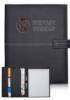 Stitched Leather Clasp Portfolio- 9.5