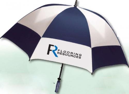 Super-Oversized Vented Checkerboard Golf Umbrella