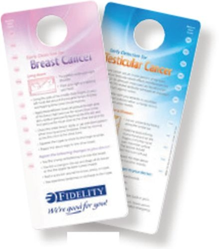 Shower Card - Early Detection for Breast / Testicular Cancer