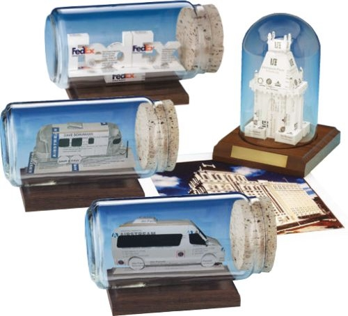 Business Card Sculpture - Satellite Dish