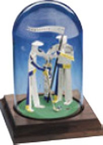 Business Card Sculpture - Golfer with Caddy