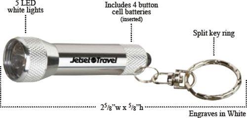 Homestead Metal Flashlight with Key Tag