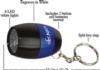 Barrel Metal Flashlight with Key Tag