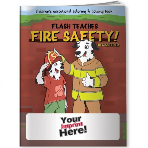 Coloring Book - Flash Teaches Fire Safety (Remastered)