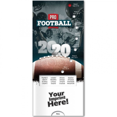Pocket Sliders™ - Pro Football - 2020 Season Schedule