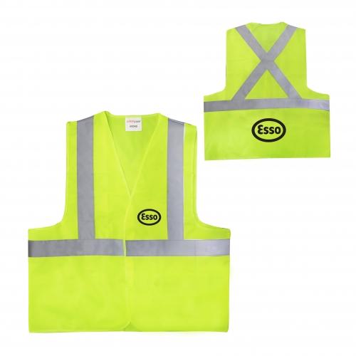 Safety Vest w/ Reflective Tape (Criss-Cross Back)