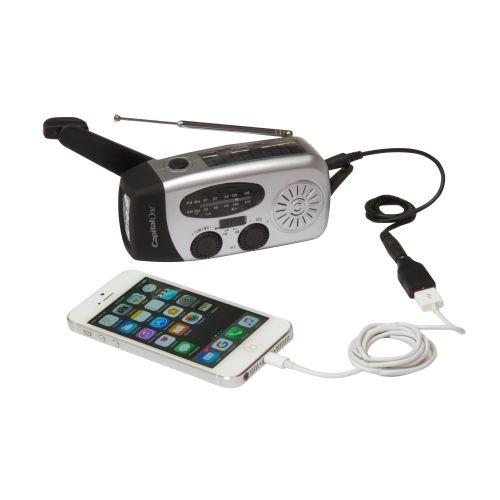 Dynamo Solar AM-FM Radio/Flashlight w/ USB