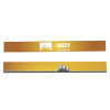 Tri-Fold Protective Barrier Graphic Decals (Set of 2)