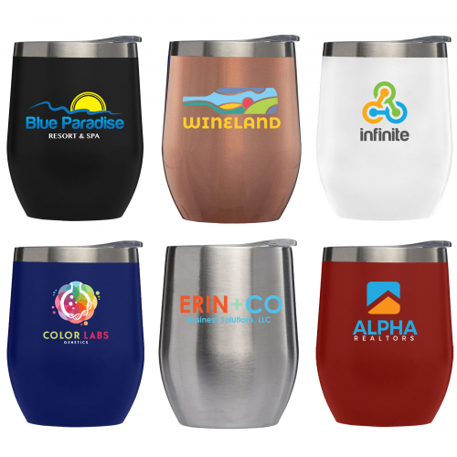 Escape - 11 oz. Double-Wall Stainless Wine Cup - Full Color