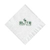 Foil Stamped White 1-Ply Beverage, Coin Edge Embossing