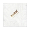 Foil Stamped White 1-Ply Luncheon, Coin Edge Embossing