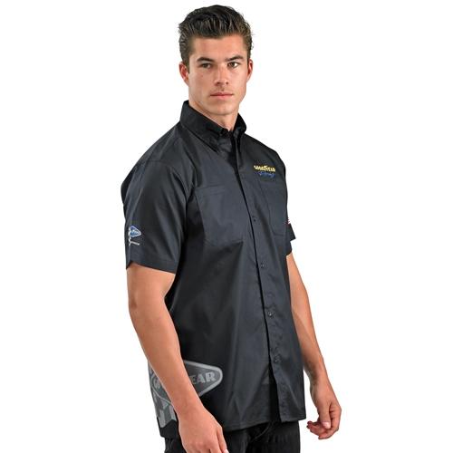 Woven Short Sleeve Mechanic Style Work Shirt