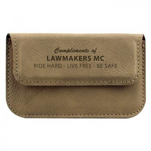 Leatherette Soft Business Card Holder