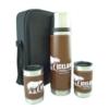 Thermos/ Tumbler Brown Leatherwrap Gift Set