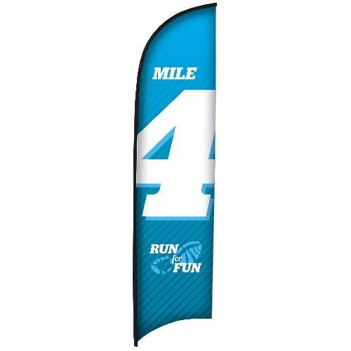 13' Premium Razor Sail Sign Flag, 1-Sided