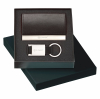 Colorplay Leather Card Case & Key Ring Gift Set
