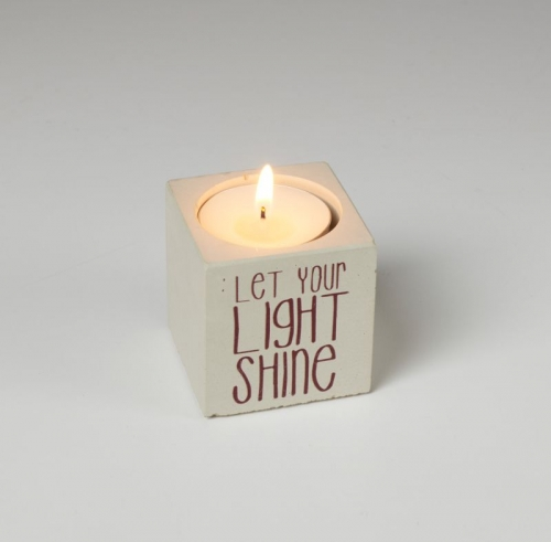Concrete Cube Candle Holder
