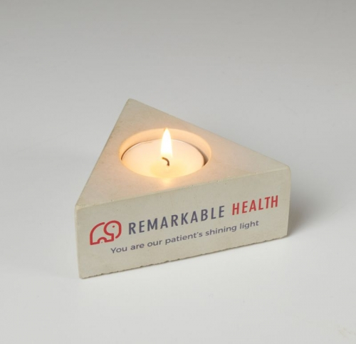 Concrete Triangle Candle Holder