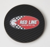 Round Carbon Fiber Texture Coaster (UV Print)