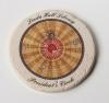 Round Travertine-Texture Coaster w/Wash