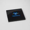 Square Carbon Fiber-Texture Accent Coaster