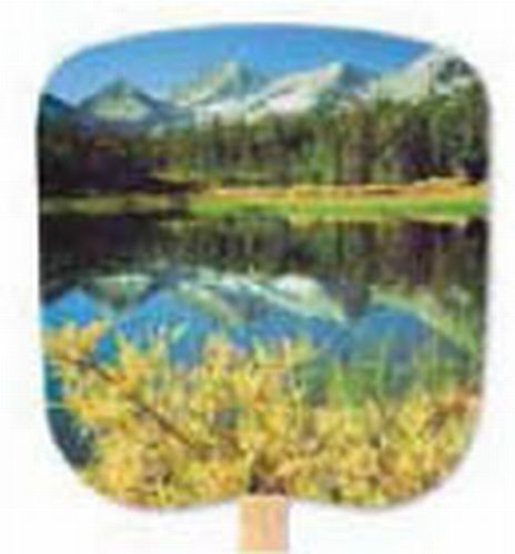 Scenic & Still Life Stock Mountain Reflection Fan