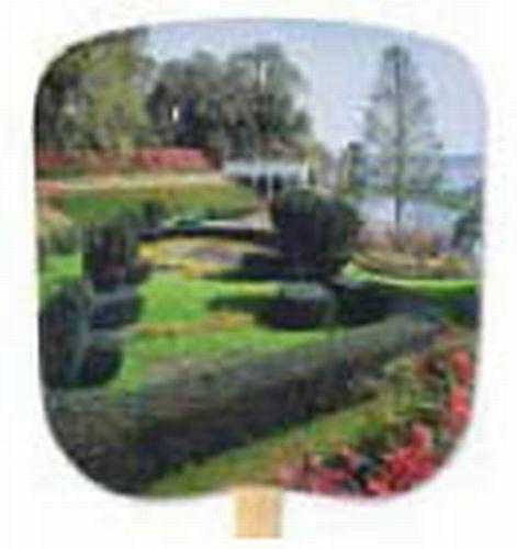 Scenic & Still Life Stock Formal Garden Fan