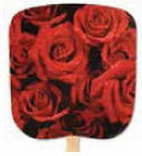 Scenic & Still Life Stock Roses Hand Held Fan