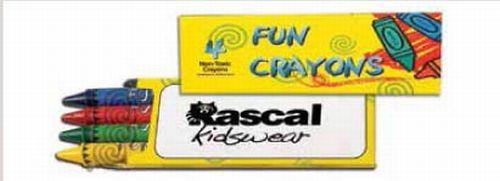 4 Pack Crayons w/Imprinted Box