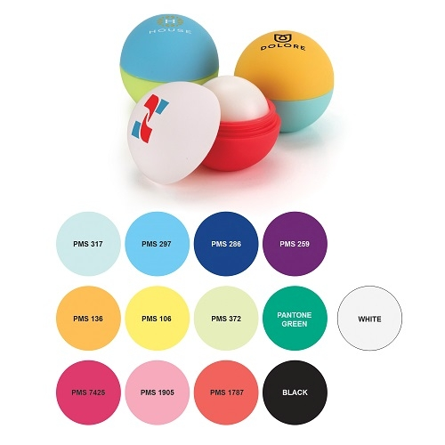 Custom Combination Rubber Lip Balm Ball