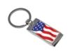 Stock USA Flag Key Tag