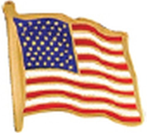 Etched American Flag Lapel Pin