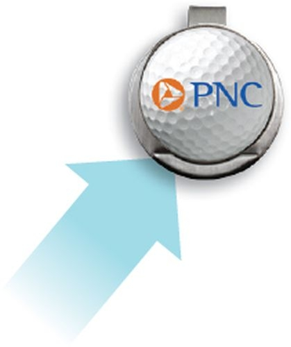 Golf Hat Clip w/ Custom Ball Marker (3/4
