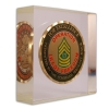 Die Struck Challenge Coins Embedded in Acrylic